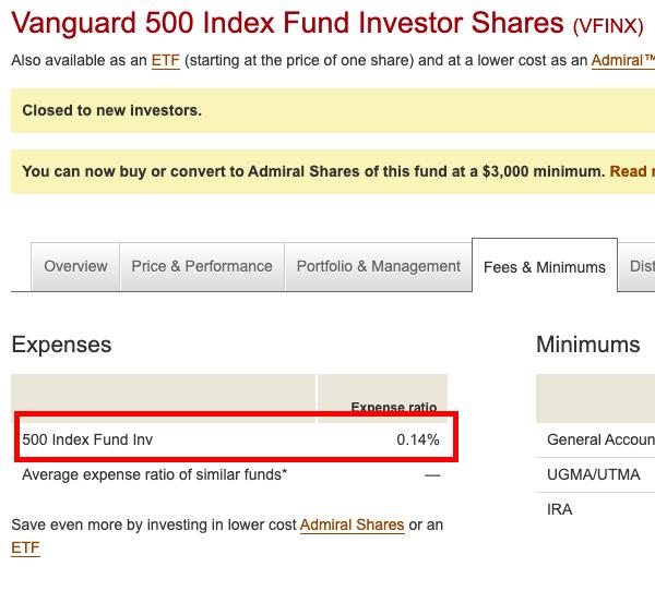 Vanguard S&P500 Index Fund